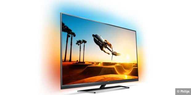 Philips 55PUS7502: UHD-TV mit Ambilight Beleuchtung