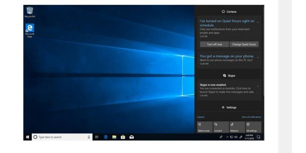 Windows 10 Build 17074: Neuer Quiet-Modus