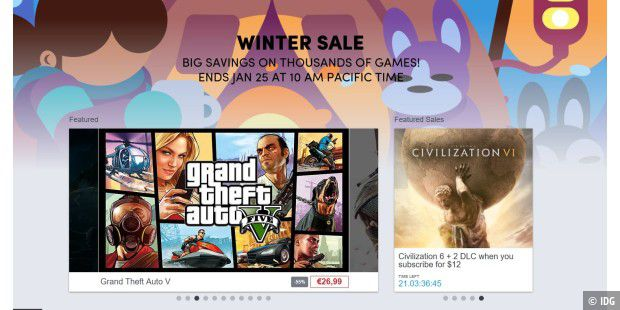 Großer Winter Sale im Humble Store