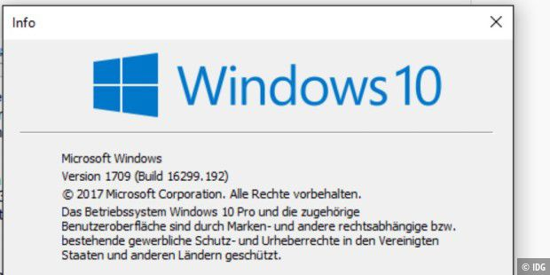 Winver verrät, welche Windows-10-Version und -Build Sie verwenden
