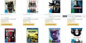 Amazon-Aktion: 10 Blu-rays für 50 Euro