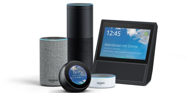 amazon echo echo plus und echo dot mit alexa im test pc. Black Bedroom Furniture Sets. Home Design Ideas