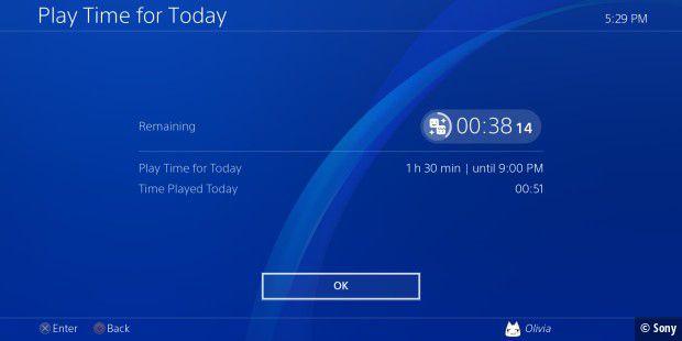 Playstation 4 erhält eine Spielzeitmanagement-Funktion