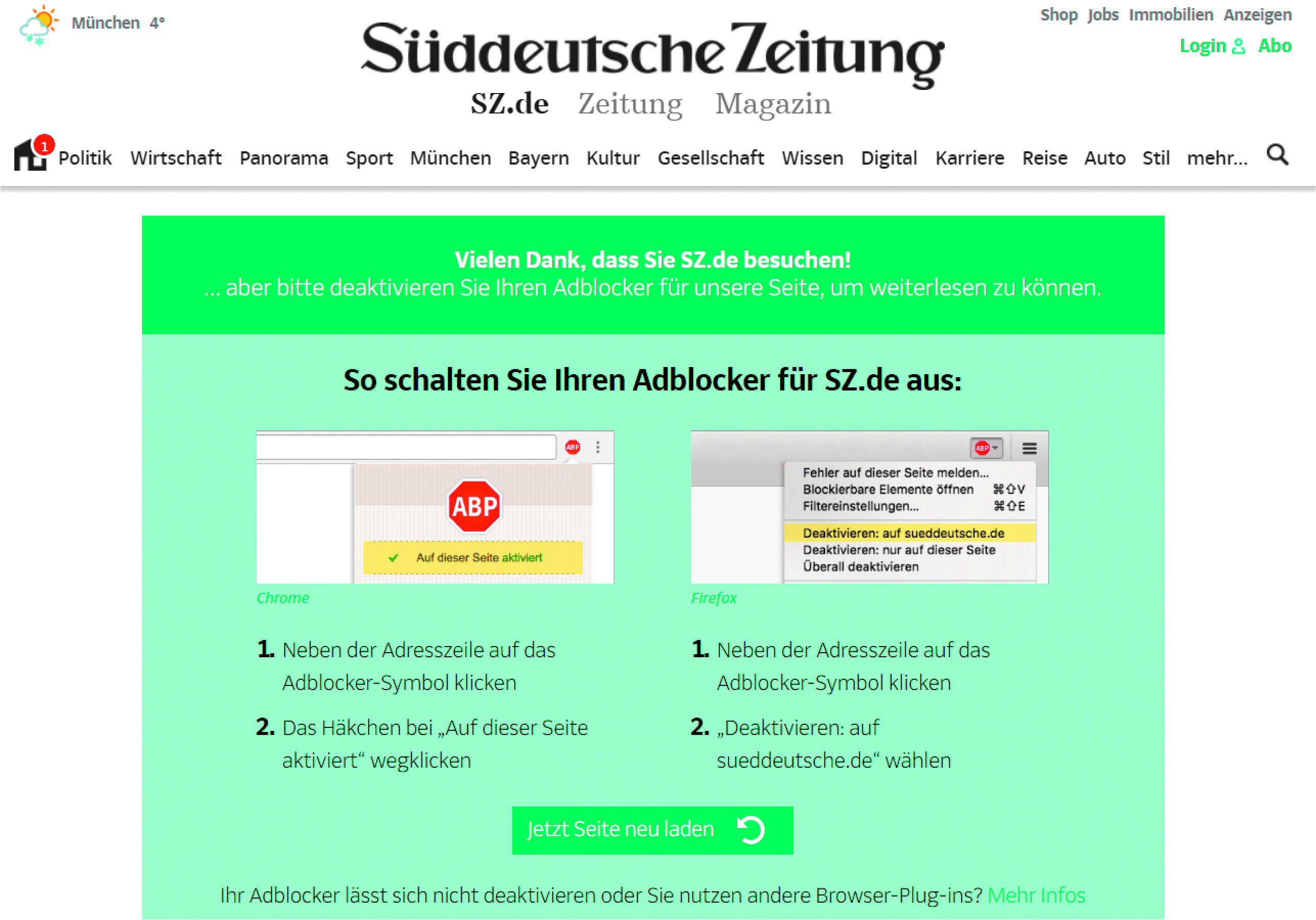 Chrome adblock deaktivieren