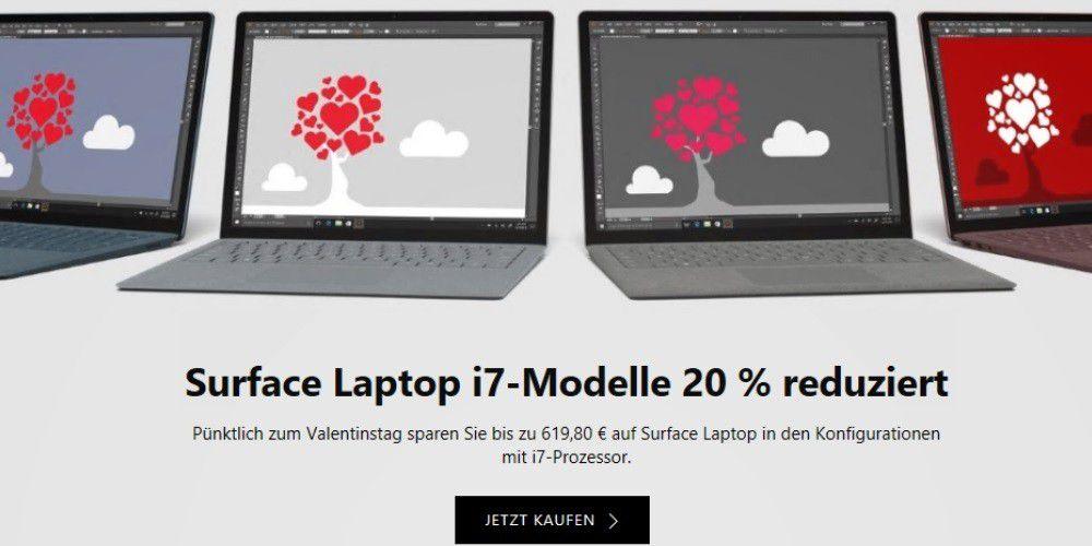 surface laptop i7 modelle bis zu 620 euro g nstiger pc welt. Black Bedroom Furniture Sets. Home Design Ideas