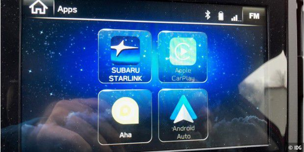 subaru starlink im subaru xv im test pc welt. Black Bedroom Furniture Sets. Home Design Ideas