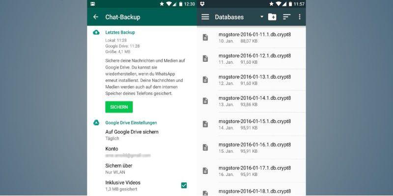 Wiederherstellen gelöscht ohne verlauf backup whatsapp WhatsApp für