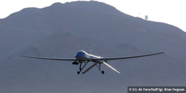 Eine MQ-1 beim Start von der Creech Air Force Base.