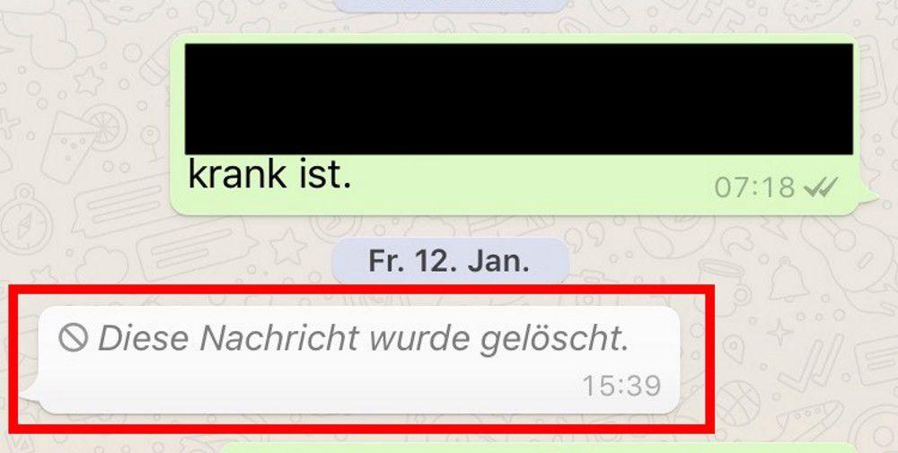 Whatsapp Nachrichten Lassen Sich Jetzt Länger Löschen Pc Welt