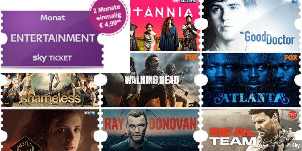 2 Monate Sky Entertainment für nur 4,99 Euro