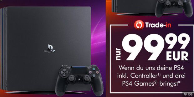 Trade-In-Angebot von Gamestop