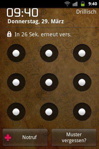 vergrern bei alten android gerten wird nach mehrmaliger falscheingabe direkt muster vergessen angezeigt - Muster Passwort