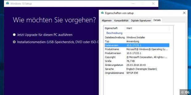 Windows 10 Version 1803 zum Download