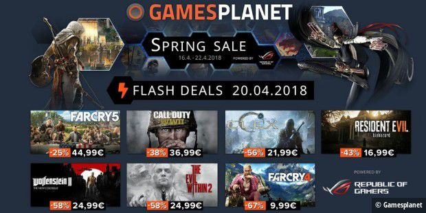 Gamesplanet Spring Sale Angebote am 20.4.2018