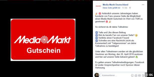 Media Markt Club Karte Geschenke.Falsche Media Markt Seite Lockt Mit 750 Euro Gutschein Pc Welt