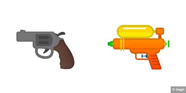 Google ändert Revolver-Emoji in Wasserpistole