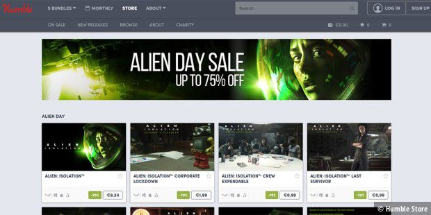 Alien Day Sale im Humble Store.