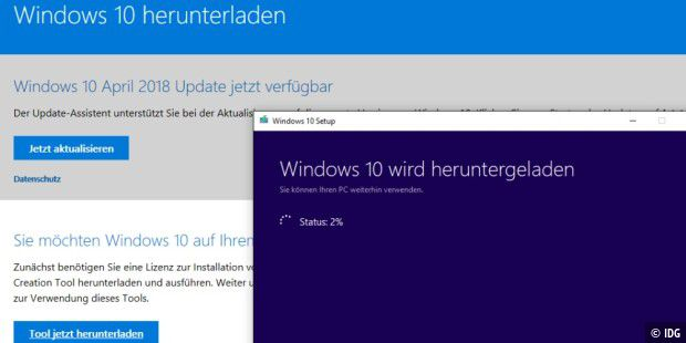 Windows 10 April 2018 Update zum Download