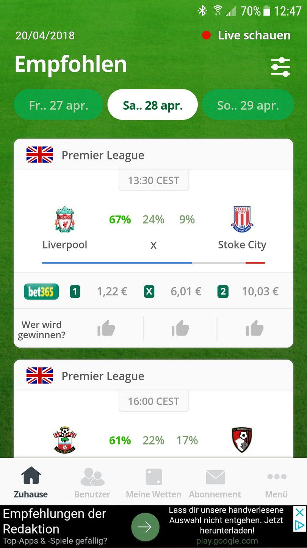 Wrg 2228 Sportwetten Test Bundesliga Tabelle Spielplan
