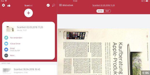 ocr app scanbot pro dokumente als pdf und text pc welt. Black Bedroom Furniture Sets. Home Design Ideas