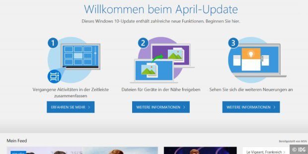 Windows 10 April 2018 Update hatte ein Einfrier-Problem