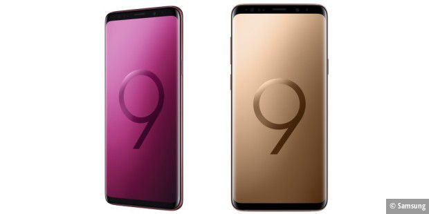samsung galaxy s9 s9 in gold und burgunder rot pc welt. Black Bedroom Furniture Sets. Home Design Ideas