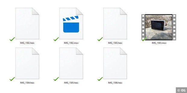 Dateien im HEIC-Format