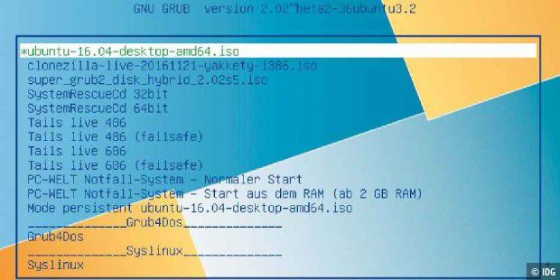 grub2 boot system rescue cd iso