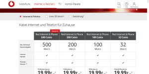 Kabel: Vodafone stellt Upload Option 50 vor