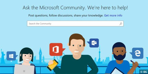 Website von Microsoft Community