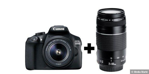 canon eos 1300d spiegelreflexkamera mit objektiv f r 299 euro pc welt. Black Bedroom Furniture Sets. Home Design Ideas