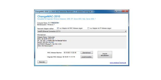 ChangeMAC-2013 - kostenloser Download