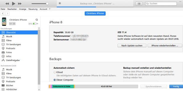 itunes for iphone 6 so 228 ndern sie den speicherort f 252 r itunes backups pc welt 2185