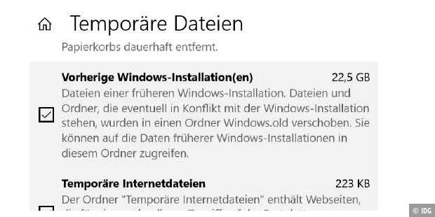 Vorherige Windows-Installationen bereinigen.