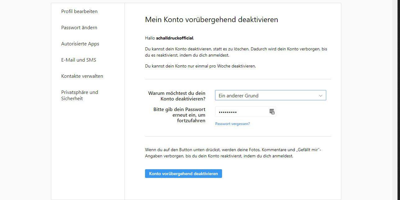 Instagram Account Sichern Und Löschen Pc Welt