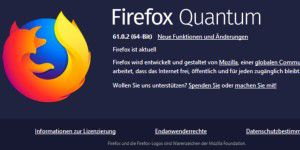 Firefox 61.0.2: Neue Funktion in Windows-Version