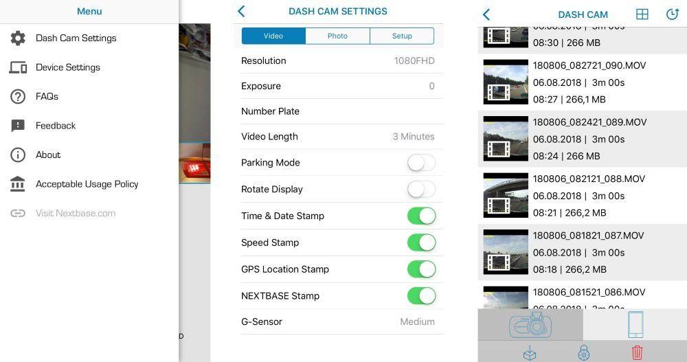 nextbase 312gw im test dashcam mit full hd wlan und app. Black Bedroom Furniture Sets. Home Design Ideas
