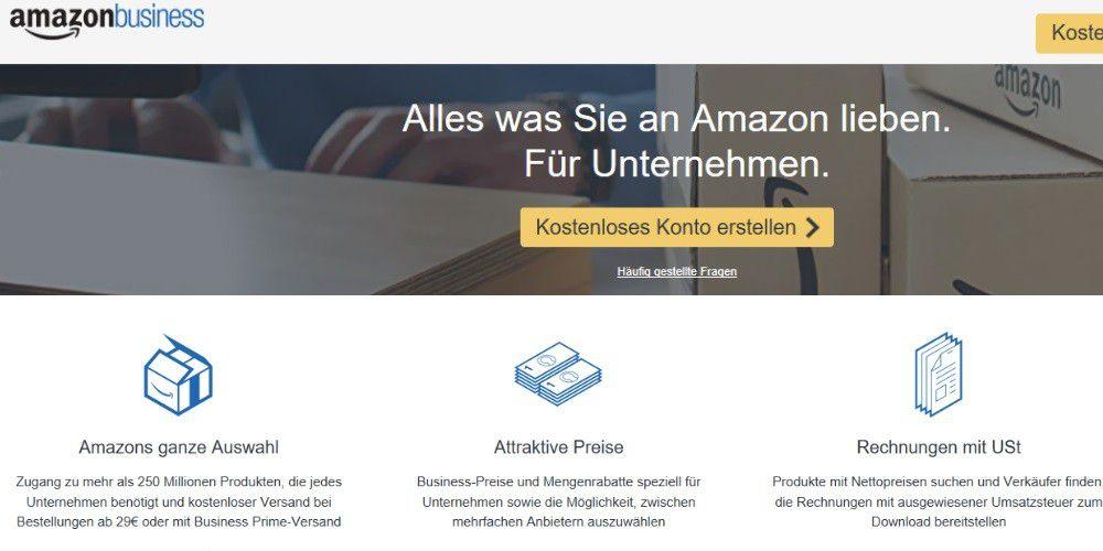 Amazon Business Konto Anlegen