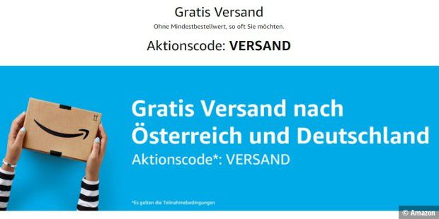 Amazon: Aktionscode für Gratis Versand bis 4.September