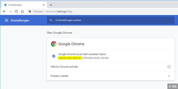 Chrome 69 im Material Design