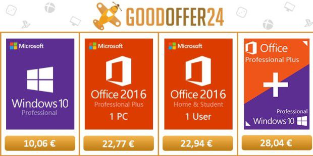 Goodoffer24 mit Windows 10 Pro Angebot
