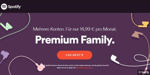 spotify premium family einrichten