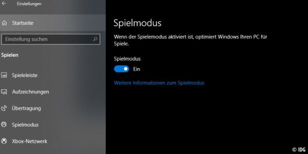 Windows 10 Oktober 2018 Update: Im Spielmodus wird Windows Update still gestellt