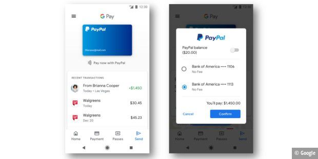 Paypal-Zahlung ab sofort in Google Pay verfügbar