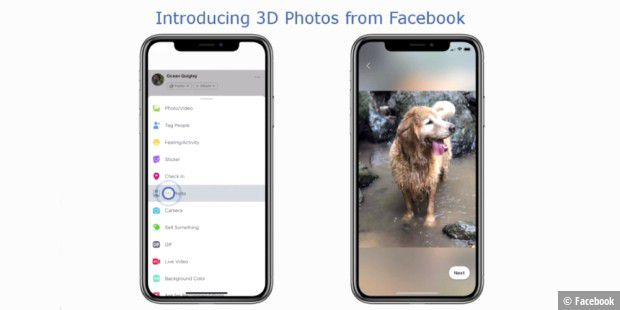 Neues Facebook-Feature: 3D-Fotos