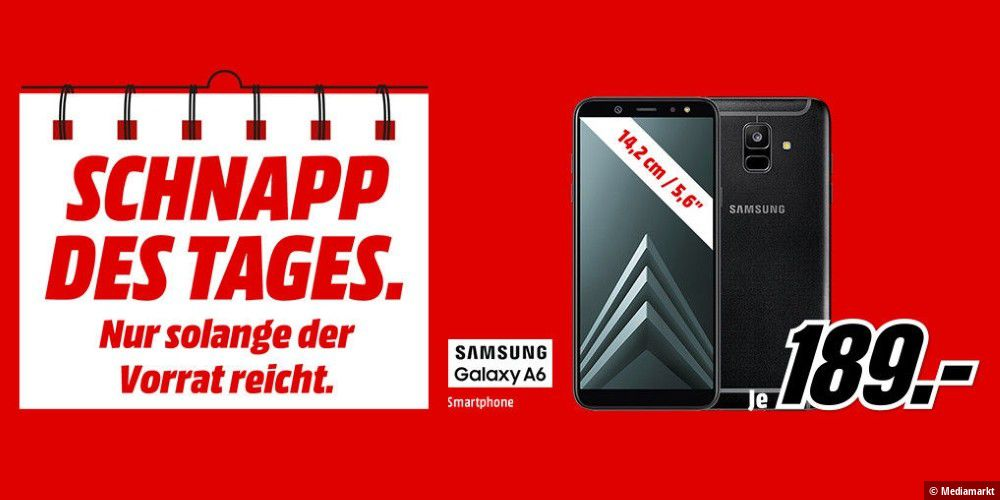 schnapp des tages samsung galaxy a6 f r 189 euro pc welt. Black Bedroom Furniture Sets. Home Design Ideas