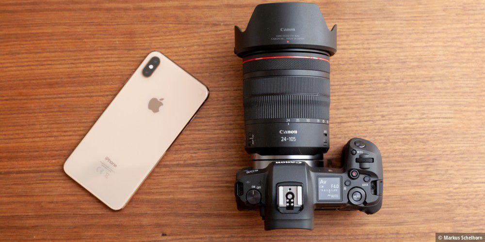 iPhone Xs Max versus Canon EOS-R