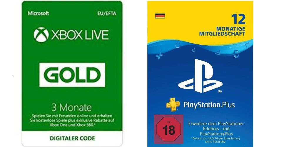 xbox live und playstation plus abos stark reduziert pc welt. Black Bedroom Furniture Sets. Home Design Ideas