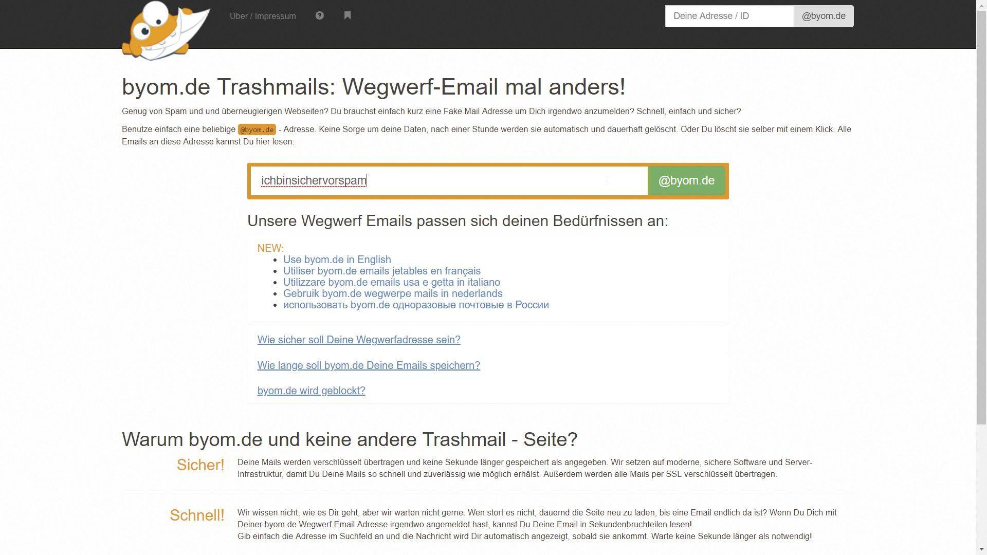 Spam-E-Mails von Dating-Seiten