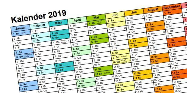 kalender 2019 kostenlos herunterladen personalisieren und. Black Bedroom Furniture Sets. Home Design Ideas